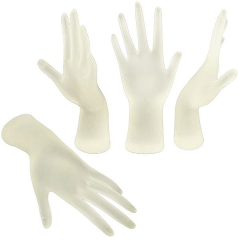 MN-AA7 Frosted Polyresin Female Hand Jewelry Display  - DisplayImporter.com