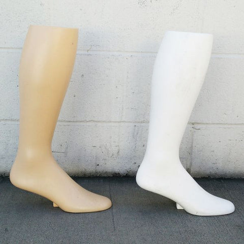 "MN-AA8 USED 17""  Freestanding Men's Knee High Sock Leg Display (FINAL SALE)  - DisplayImporter.com - 1"