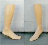 "MN-AA8 USED 17""  Freestanding Men's Knee High Sock Leg Display (FINAL SALE) Fleshtone (used) - DisplayImporter.com - 2"