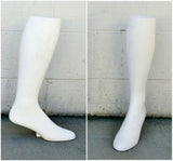 "MN-AA8 USED 17""  Freestanding Men's Knee High Sock Leg Display (FINAL SALE) White (used) - DisplayImporter.com - 3"