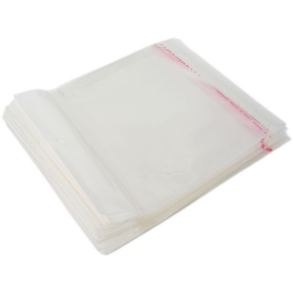 "PG-006 100 pcs Resealable Polypropylene Jewelry Bags - 6.30"" x 5.12""  - DisplayImporter.com"