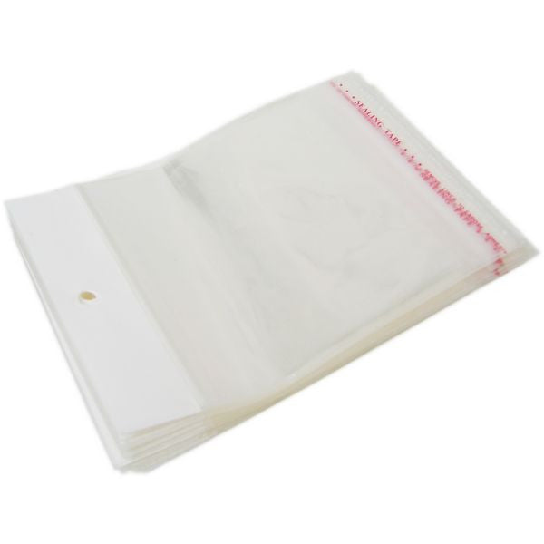 "PG-007 100 pcs Resealable Polypropylene Jewelry Bags - 6.30"" x 4.33"" - DisplayImporter"