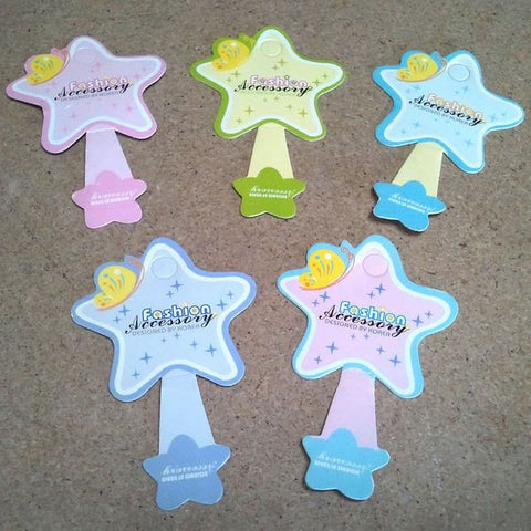 PG-019 100 pcs Star Jewelry Hanging Tags - DisplayImporter