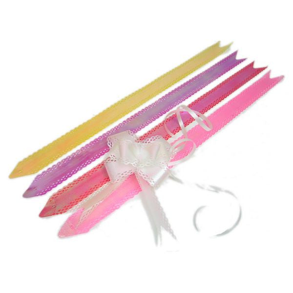 PG-027 Large Scallop Lace Edge Iridescent Butterfly Pull Ribbon - Pack of 10  - DisplayImporter.com