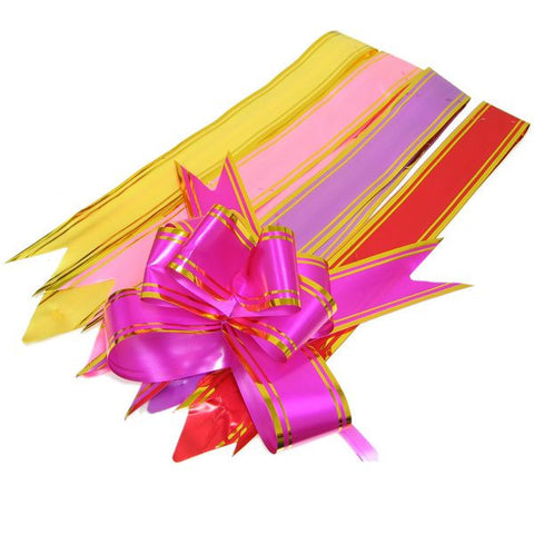 PG-031 The Grand Gold-Toned Foil Trimmed Butterfly Pull Ribbon - Pack of 10  - DisplayImporter.com