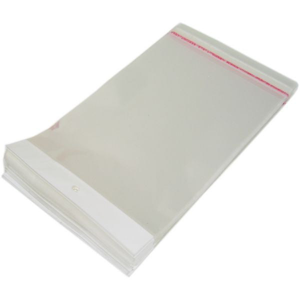 "PG-035 100 pcs Resealable Polypropylene Jewelry Bags - 10.50"" x 5.9"" - DisplayImporter"