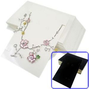 "PG-041 100 pcs ""Fashion Accessories"" Complete Jewelry Set Card With Bags  - DisplayImporter.com - 1"