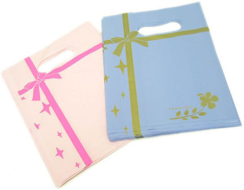 PG-049 Ribbon Decal Shopping Bag - Pack of 100 - DisplayImporter