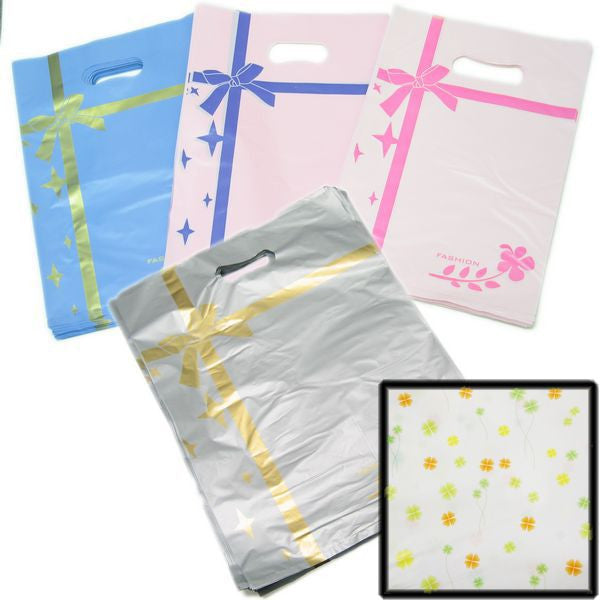 PG-054 Ribbon Decal Shopping Bag - Pack of 100  - DisplayImporter.com