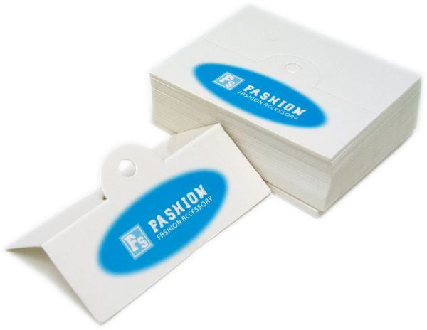 PG-072 Jewelry Hanging Tags with Blue Fashion Logo - Pack of 100 - DisplayImporter
