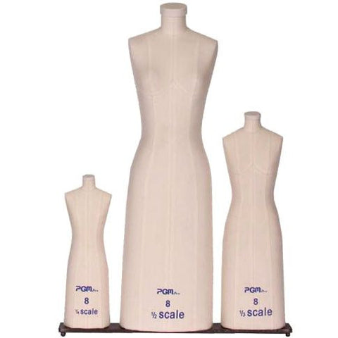 PMP-615 Ladies Mini Scale Pinnable Dress Forms - Set of 3 - DisplayImporter