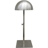 RK-013 Brushed Chrome Countertop Hat Dome Display with Adjustable Height - DisplayImporter