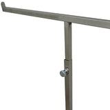 RK-014 Brushed Chrome 2 Arms Jewelry/Scarf T-Bar Display Stand with Adjustable Height - DisplayImporter