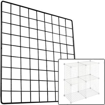 RK-033 Standard Weight Grid Wire Storage Cube Panel  - DisplayImporter.com
