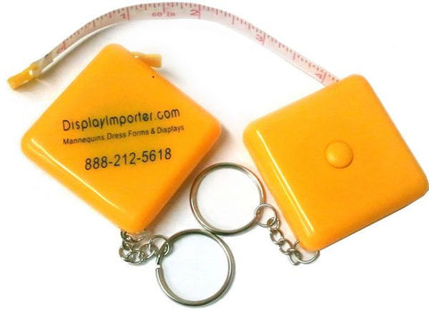 "TL-009 60"" (150cm) Retractable Tape Measure Keychain - DisplayImporter"