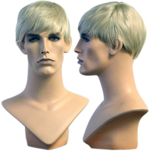 WG-011 Blond College Cut David Wig  - DisplayImporter.com