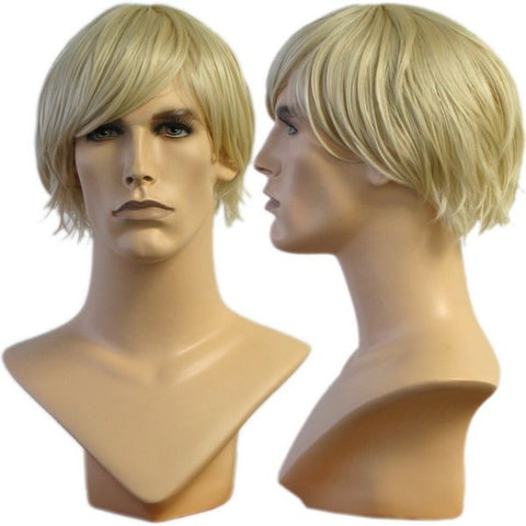 WG-012 Blond Jeff Male Wig - DisplayImporter