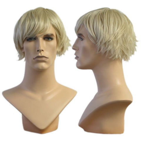 WG-016 Blond Wedge Cut Richard Wig - DisplayImporter