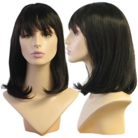 WG-018 Soft Look Black Alley Female Wig - DisplayImporter