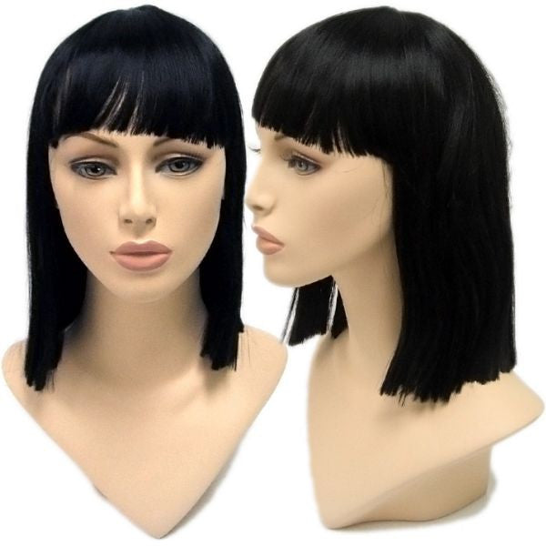 WG-021 Jet Black Cleopatra Female Wig - DisplayImporter