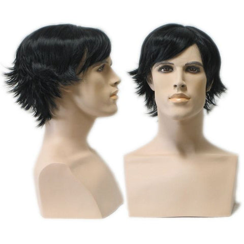 WG-025 Dark Wedge Cut Richard Male Wig - DisplayImporter