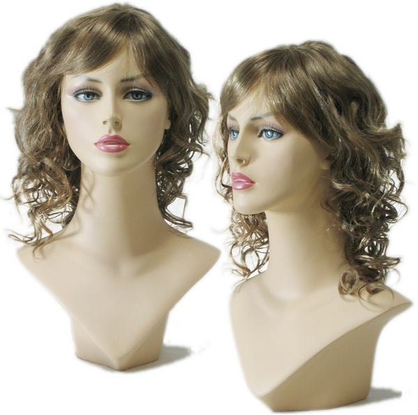 WG-031 Curly Ash Brown Female Wig  - DisplayImporter.com