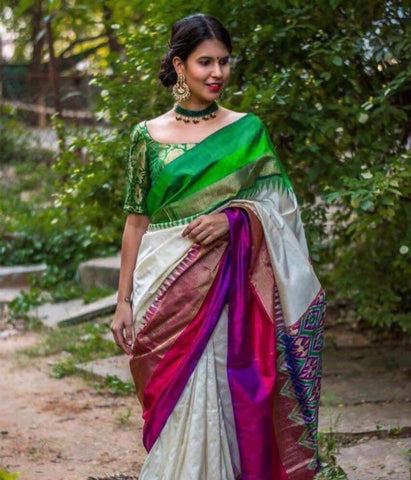Pure Silk Ikat Saree