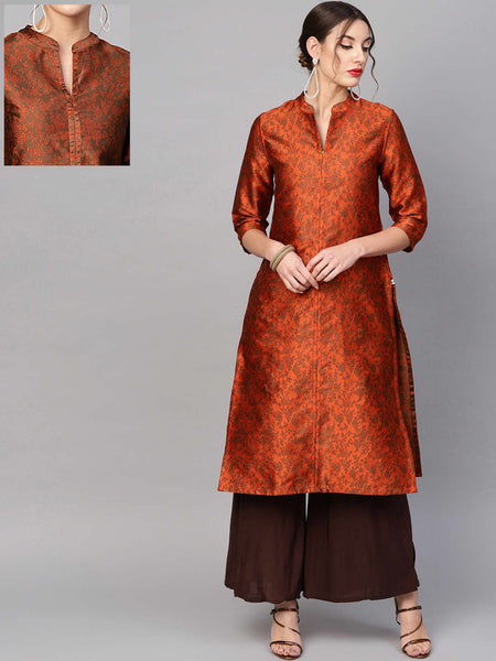 AKS Cotton Print Straight Kurti For Women