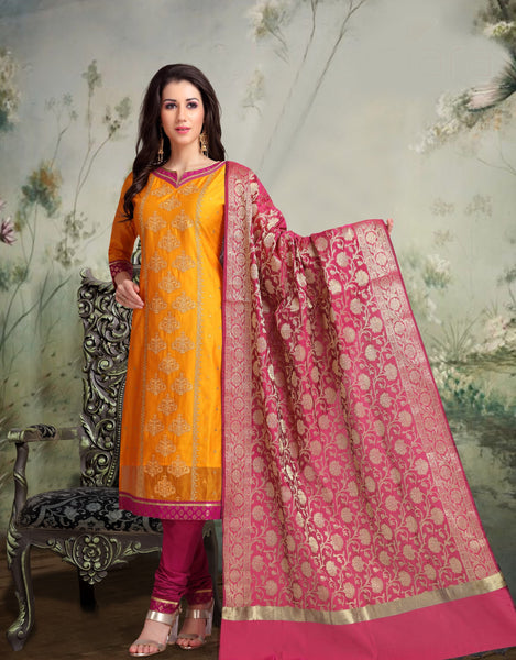 Wine and Gold Banarasi Silk Salwar-BDM014