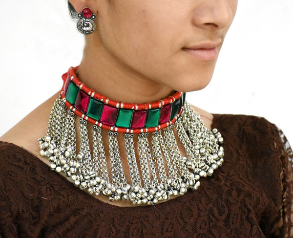 Antique Choker Necklace and Earrings-ACN020