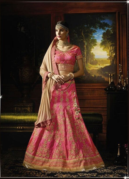 Baby Pink Embroidered Bridal Lehenga