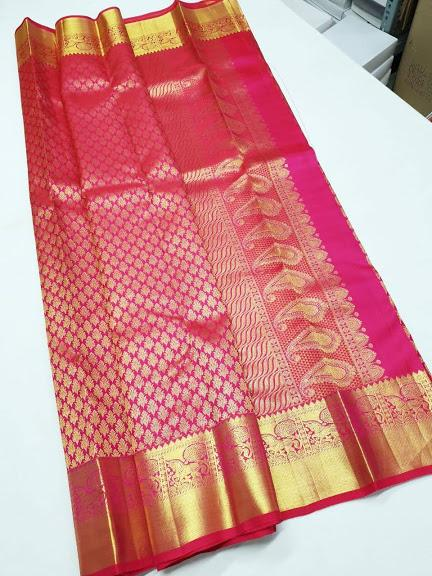 Baby Pink with Gold combo Kanchipuram Bridal Silk Saree BCKS 010