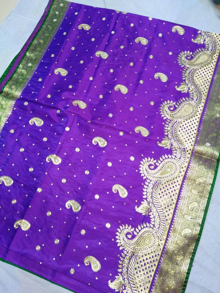 Banarasi Shalu Paithani Saree-Design PS191