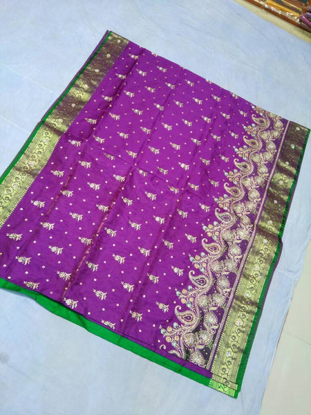 Banarasi Shalu Paithani Saree-Design PS192