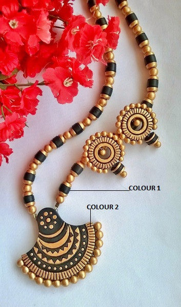 Black Bell Terracotta Jewellery Set