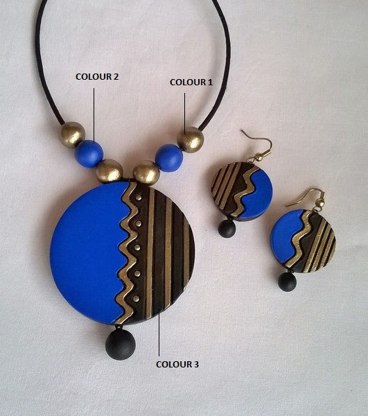 Black & Blue Round set