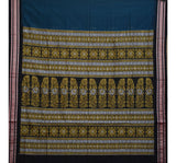 Blue with Black Handloom Bomkai Cotton Saree