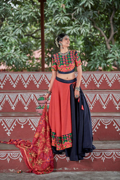 Brick Red Lehenga Choli