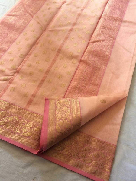 Chanderi Silk Saree- CSH025