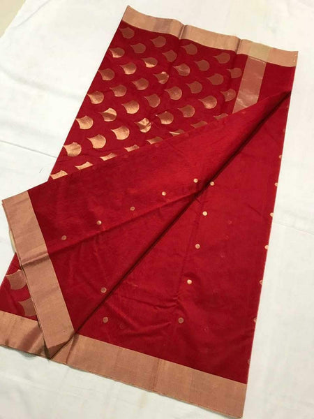Chanderi Silk Saree- CSH027
