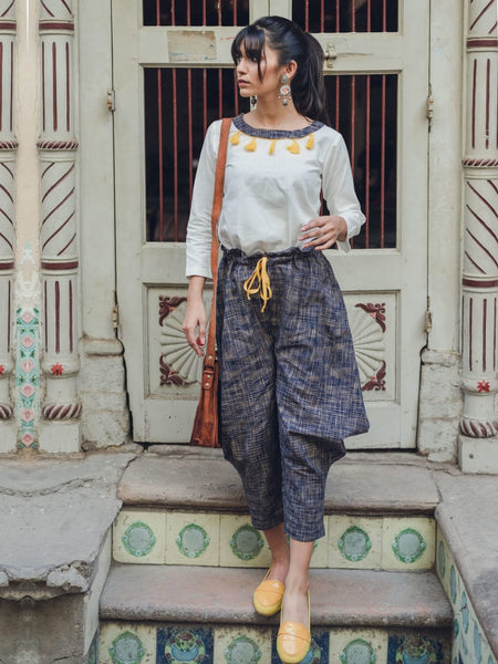 Casual Baggy Pant with Beige Top