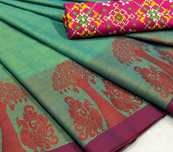 Chettinad Saree with Fancy Border- CS102