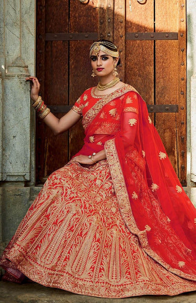 Cream Fine Embroidered Bridal Lehenga