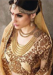Cream Embroidered Bridal Lehenga