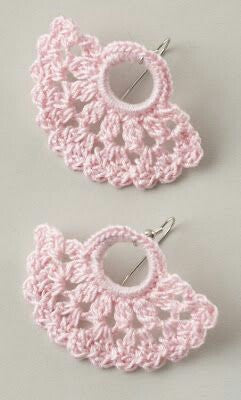 Baby Pink Color Half Moon Floral Traditional Statement Crochet Earring Sets
