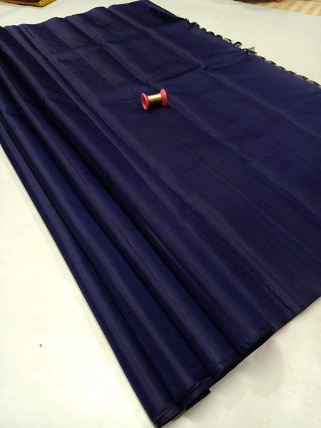 Darkblue Pure Silk Saree
