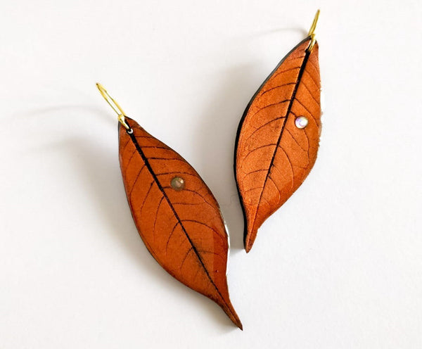 Dry leaves Polymer clay earrings