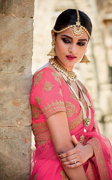 Elegant Stone Work with Fine Embroidered Bridal Lehenga