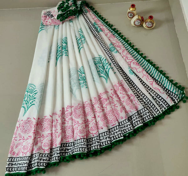 Floral Hues Cotton Saree