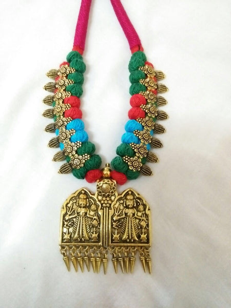 Golden Antique Pendant Oxidised Jewellery Set-OXDJ-052